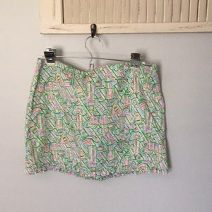 Lily Pulitzer mini skirt size 4 w/Lighthouses